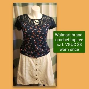 3 for 15 lattice and crochet front top